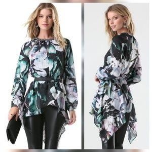 Bebe Magnolia Frost Embellished Tunic